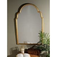 Shop Kate and Laurel Leanna Scalloped Oval Wall Mirror - Gold - 24x36 - Overstock - 31288732 Handmade Wall Mirrors, Arch Mirror, Small Entryways, Mirrors Wayfair, Home Decor Trends, Home Decor Outlet, Entryway Decor, Moroccan, Aurora
