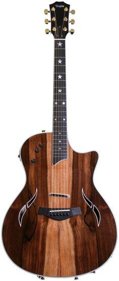 Taylor Custom Mac Taylor Custom Macasser - Striped Ebony w/Star Inlays Acoustic Guitar Notes, Classical Acoustic Guitar, Jazz Guitar, Music Guitar, Cool Guitar, Playing Guitar, Acoustic Guitars, Electric Guitar Lessons, Electric Guitars