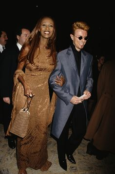 Photos of Iman and Bowie through the years - Jan10 2016 RIP Mr. Bowie.