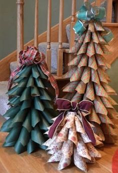 Christmas trees made with paper cones! So many options with different patterned papers.