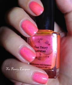 Tickle Me Pink! (retired) Hot neon pink holographic polish