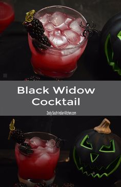 Here is wickedly delicious black widow cocktail made with fresh blackberries, vodka and simple syrup. Great Halloween drink you can make it in 5 minutes. Vodka Drinks, Fun Cocktails, Cocktail Drinks, Yummy Drinks, Alcoholic Drinks, Party Drinks, Easy Drink Recipes, Best Cocktail Recipes, Drinks Alcohol Recipes