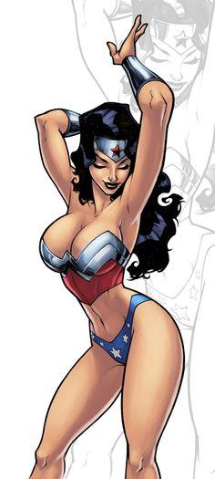 Wonder Woman Pedro Delgado and colors by *logicfun on deviantART