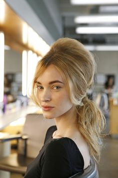 Jimmy Paul, a stylist at Bumble and bumble, created this street-ready version of the classic beehive. Click through for a how-to.  Photo: Elizabeth Lippman for The New York Times