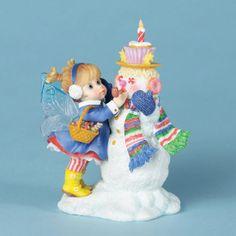 Kitchen Fairies | My Little Kitchen Fairies Decorating Snowman Fairie Figurine