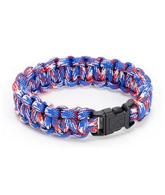 If the Rothco Paracord Red, White, and Blue bracelet is tough enough for the US military then it is surely strong enough for you. This soft polyester bracelet is made from military grade parachute chord that can hold over 700lbs of weight and it comes in