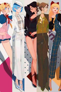 Illustration Moon High End Scouts Sailor Moons, Sailor Jupiter, Sailor Moon Fan Art, Sailor Venus, Manga Anime, Fanarts Anime, Sailor Scouts, Sailor Moon Kristall, Sailor Moon Aesthetic