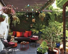Commune founder Steven Johanknecht's Tudor cottage in Los Angeles's Silver Lake neighborhood is gorgeous both inside and out. I especially love his pergola-covered outdoor seating area, complete with vintage holiday lights overhead and a table designed by Alma Allen below. Tour the entire home on Elle Decor.