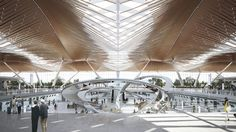 Incheon International Airport Passenger Terminal 2 Competiton by Haeahn Architecture Incheon, Futuristic Architecture, Architecture Design, Airport Design, Constitution Day, American History Lessons, Mountainous Terrain, Zhuhai, Teaching History