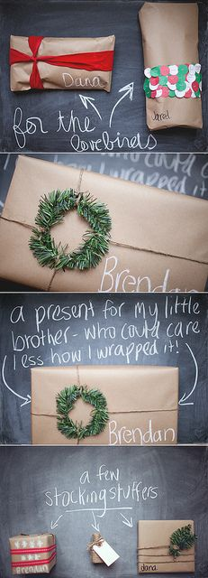 Crafty Christmas present wrapping! #christmas #presents #crafts