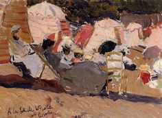 Joaquin Sorolla y Bastida The Beach at Biarritz painting for sale, this painting is available as handmade reproduction. Shop for Joaquin Sorolla y Bastida The Beach at Biarritz painting and frame at a discount of off. Spanish Painters, Spanish Artists, Biarritz, Art Database, Office Art, Beach Art, Paintings For Sale, Oil Paintings, Art Reproductions