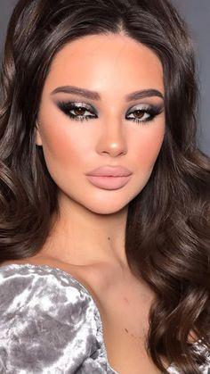 Cute Eye Makeup, Cool Makeup Looks, Glam Makeup Look, Beautiful Eye Makeup, Eye Makeup Art, Simple Eye Makeup, Beauty Makeup, Hair Makeup, Natural Glam Makeup