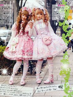 #gothic #lolita sweet lolis in pink