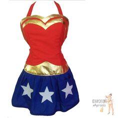 Wonder Woman apron - Kitschy Aprons