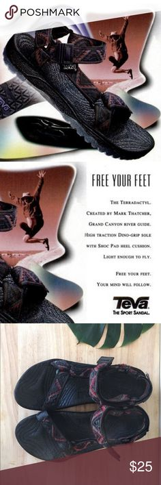 TEVA Terradactyl sport sandal unisex prismatic This is the Teva sport sandal fo Best Hiking Shoes, Hiking Boots, Sandalias Teva, Boots Store, Flip Flop Sandals, Flip Flops, Boot Shop, Sport Sandals, Cool Boots