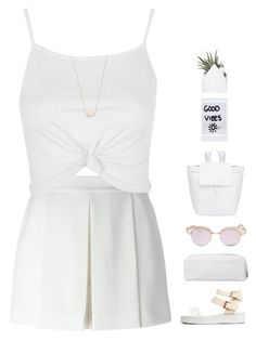 """""""Untitled #1054"""" by theonlynewgirl ❤ liked on Polyvore featuring Alexander Wang, Topshop, Kendra Scott, Le Specs and Mansur Gavriel"""