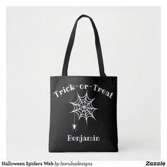 Halloween Spiders Web Tote Bag