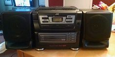 JVC PC-XC11 Portable 3 CD Changer AM/FM Cassette Stereo Boombox System w/ REMOTE
