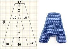 Как построить выкройку объемной буквы-подушки