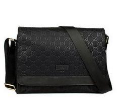Réplique Gucci Nylon Guccissima Flap Messenger Bag 298 509 SAC A MAIN EN  Noir 0452a1f7fa8