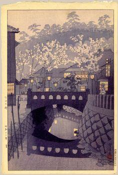 Town in Shimoda by Shiro Kasamatsu, 1937 (published by Watanabe Shozaburo) Japanese Art, Landscape Paintings, Japanese Artists, Japanese Aesthetic, Graphic Art Prints, Japanese Woodblock Printing, Art, Japanese Landscape, Eastern Art