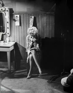 Marilyn on the set of 'Bus Stop' photographed by Milton H. Greene 1956.