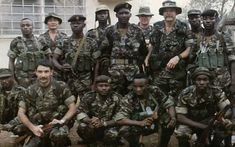 MacKenzie in Sierra Leona. He last job. Story goes that the guerrillas ambushed them, kill them all and eat MacKenzie heart... literally...
