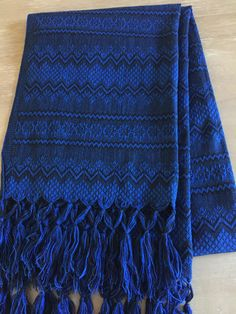 Mexican Rebozo, Table Runner or shawl. Handwoven.
