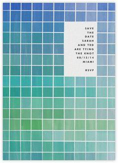 Gradient green. Xk #kellywearstler #paperlesspost #invite