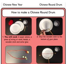 Learn how to make a Chinese Round Drum with our Chinese New Year lessons for KS1 and KS2 http://www.planbee.com/festivals-holidays/