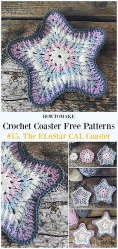 Crochet The ELoStar CAL Coaster Free Pattern - Easy #Crochet Coaster Free Patterns