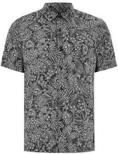 524c5859731 Check out this sleek black and white floral short sleeve shirt from Topmam.  Premium materials in a slim fit. Sensible Swagger · Men s Summer Aloha  Button ...