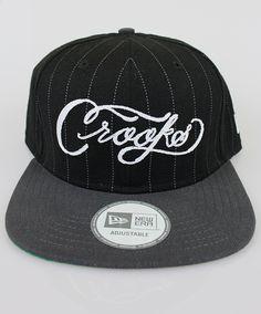 79e54615562 Crooks  amp  Castles New Era The Scripture Snapback Cap in Black  amp  Grey  Stussy