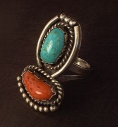 OLD PAWN Vintage Native American Navajo Ring SOLID Sterling Silver 15.5 Grams Size 10.5 c.1950s