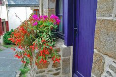 Purple Door, La Roche Bernard, Brittany, France