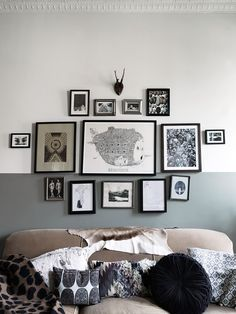 Half painted wall in Beautiful Vintage Inspired New York Brownstone of Nina Persson - Gravity