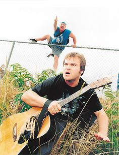 See Tenacious D pictures, photo shoots, and listen online to the latest music. Jack Black, Soul Music, Music Tv, Santa Monica, Kyle Gass, Sweet Band, Tenacious D, Famous Musicals, Heavy Metal Art