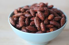 Maple and Spice Roasted Almonds Recipe