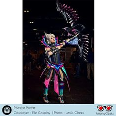 Awesome Monster Hunter cosplay  . . . #monsterhunter #ellecosplay #cosplay #cosplays #cosplayer #cosplaylove #cosplaymania #cosplayworld #cosplayhelp #costumeplay #Costume #costumer #Anime #Manga #Otaku #Gamer #Nerdy #Nerd #Comic #Geek #Geeky