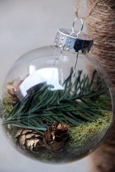 pine cone/pine needle ornament