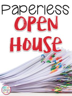 Diary of a Not So Wimpy Teacher: Paperless Open House