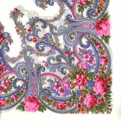 Find authentic Russian shawls from high quality wool at best prices on RusClothing. Russian wool scarf is original. Made in Russia, shipped worldwide. Folklore, Chinese Patterns, Watercolor Painting Techniques, Baby Girl Photos, Pashmina Shawl, Russian Art, Hand Embroidery Designs, Handmade Flowers, Textile Prints