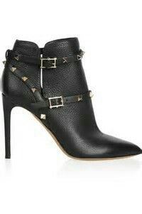 Valentino Rock Stud Ankle Boots