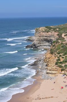 Praia de Ribeira d'Ilhas, Ericeira, Portugal by augustoferreira Ericeira Portugal, Places To Travel, Places To Visit, Virtual Travel, Lisbon, All Over The World, Marines, Beaches, Beautiful Places