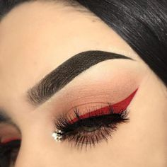 Valentines Day Eye Make-up Concepts;Valentines Day Eye Make-up;Modern Eye Make-up… – Hair Style Eye Makeup Images, Day Eye Makeup, Day Makeup Looks, Red Makeup, Eyeshadow Makeup, Red Eyeliner, Eyelashes Makeup, Red Glitter Eyeshadow, Red Eyeshadow Look