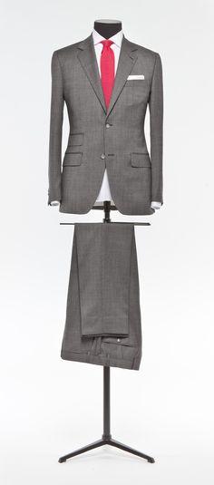 Grey suit Faux uni S110 http://www.tailormadelondon.com/shop/tailored-suit-fabric-3898-plain-grey/