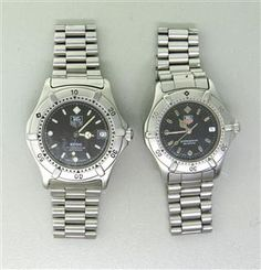 Tag Heuer Professional Watch Lot of 2 962006 WE1210R. Available @ hamptonauction.com at the Fine Jewelry Watches Coins and Collectibles Auction on December 15, 2014! Come preview our catalog!