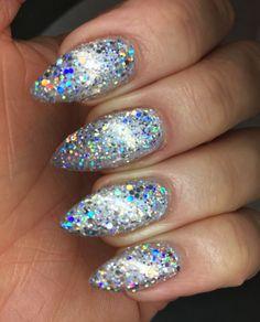 Neon Acrylic Nails, Glitter Nails, Wow Nails, Cnd Shellac, Gel Nail Designs, Beautiful Nail Art, Chrome, Glittery Nails
