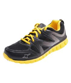 a5488121e Yellow Sport Shoes Price in India- Buy Sparx Black Yellow Sport Shoes .