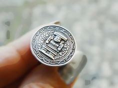 Sterling Silver Tribal Cuff links - Vintage Mexico